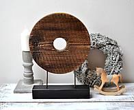 Socha - Drevená dekorácia - Kruh (priemer 23cm) - 13191052_