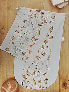 Úžitkový textil - Vrecúška na pečivo a chlieb  (sada) - 13193399_