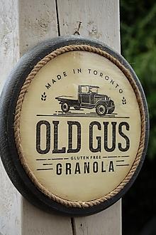 Obrázky - Okrúhle farmárske obrázky s keramickým efektom (Old Gus Granola) - 13191515_