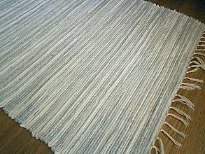 Úžitkový textil - tkany koberec ocelovy - 13196355_