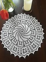 Úžitkový textil - Háčkovana okrúhla dečka - 13196089_