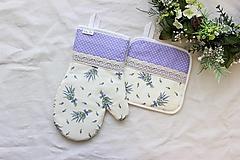 Úžitkový textil - set rukavica+chňapka Levanduľová - 13198445_