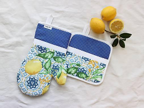 set rukavica+chňapka Lemon
