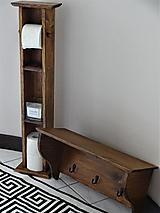 Nábytok - Drevený zásobník na wc papier - 13195798_