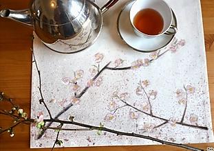 Úžitkový textil - Rozkvitnutá čerešňa - obrus - 13195044_
