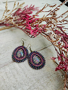 Náušnice - William Morris earrings n.2 - vyšívané náušnice - 13197811_
