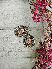 Náušnice - William Morris earrings n.3 - vyšívané náušnice - 13197827_