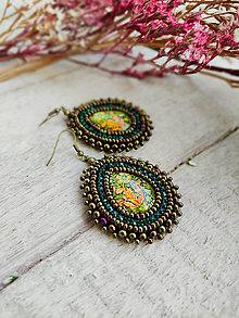 Náušnice - William Morris earrings n.4 - vyšívané náušnice - 13197834_