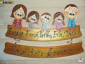 Tabuľky - Menovka - rodinka - 13195626_