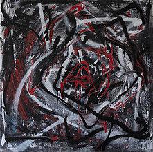 Obrazy - vnútri . abstraktná maľba . grafity na plátne   - 13198682_