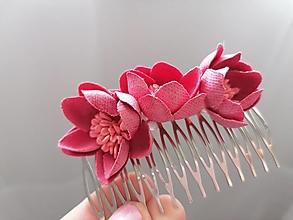 Ozdoby do vlasov - Hrebienok ...ružový - 13197364_