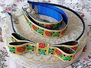 Sady šperkov - Ľudový set... žltý - 13197974_