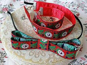 Sady šperkov - Ľudový set... červený - 13197984_