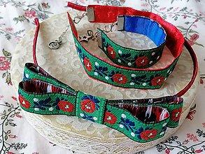 Sady šperkov - Ľudový set... zelený - 13197989_