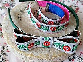 Sady šperkov - Ľudový set... biely - 13197991_