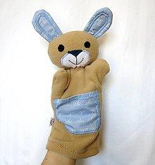 Hračky - Maňuška zajac - Zajko prváčik - 13194773_