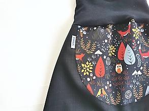 """Detské oblečenie - Softshellky jarné """"čarovný les"""" - 13195525_"""