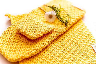 Úžitkový textil - Set podložka a chňapka žltá - 13195053_