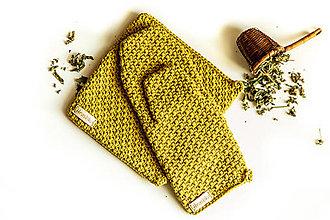 Úžitkový textil - Set podložka a chňapka limetková - 13195105_