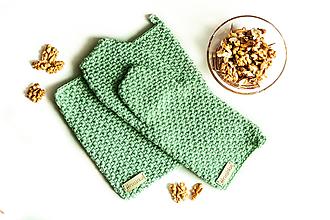Úžitkový textil - Set podložka a chňapka šalviová - 13195120_