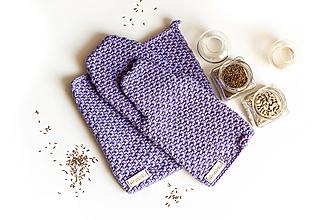 Úžitkový textil - Set podložka a chňapka fialová - 13195127_