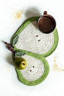Úžitkový textil - Set podložiek (chňapiek) hruštičky - 13195151_