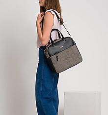 Veľké tašky - Daily Tweedy leather - 13194845_