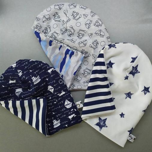 Detská čiapka pre dievča aj chlapca rôzne farby (43cm hviezdy a pruhy)