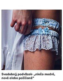 Bielizeň/Plavky - Set svadobných podväzkov rôzne farby - 13195377_