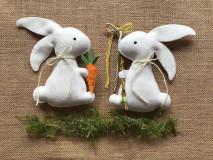 Dekorácie - Veľkonočný zajačik - šibačka - 13195476_