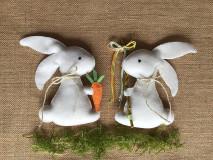 Dekorácie - Veľkonočný zajačik - šibačka - 13195478_