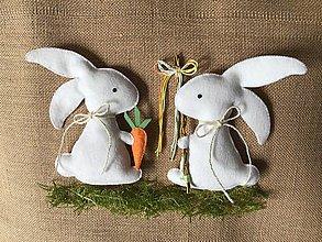 Dekorácie - Veľkonočný zajačik - šibačka - 13195477_
