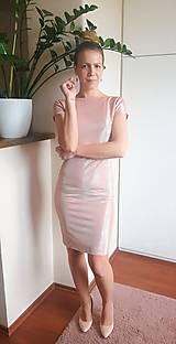 Šaty - Pudrové ligotavé šaty - 13194829_