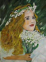 Obrazy - Konvalinková princezná - 13197501_