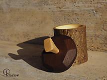 Krabičky - Drobná lipová krabička s jasanovým víčkem - 13195071_