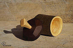 Krabičky - Drobná lipová krabička s jasanovým víčkem - 13195072_