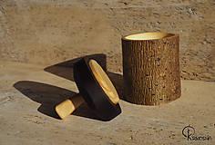 Krabičky - Drobná lipová krabička s jasanovým víčkem - 13195074_