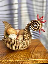 Dekorácie - Veľkonočný košík - sliepka  - 13197856_