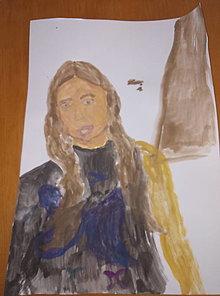 Obrazy - Portrét Grétky - 13197053_