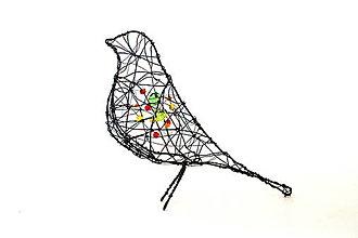 Socha - Vtáčik zdobený * 17 cm - 13196604_