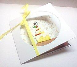 Papiernictvo - Pohľadnica ... torta - 13202138_