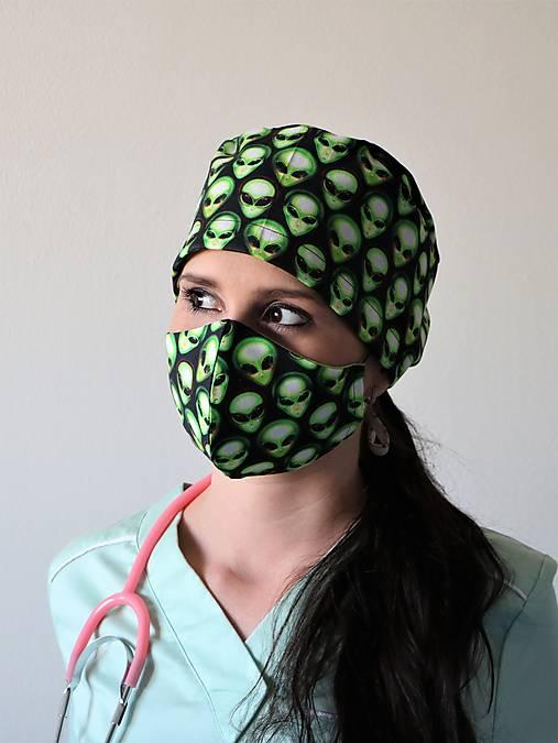 Dizajnová operačná / chirurgická čiapka area 51 mini