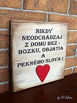 Tabuľky - Nikdy neodchádzaj ... tabuľka - 13198904_