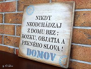 Tabuľky - Nikdy neodchádzaj ... tabuľka (var.1) - 13198897_