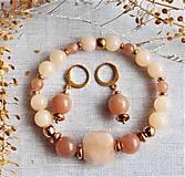 Sady šperkov - Slnečný kameň, jadeit, hematit - 13200912_