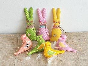 Dekorácie - Veľkonočné zajačiky ,pastelové - 13202231_