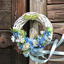 Dekorácie - Venček na dvere s nápisom Vitajte - 13202607_