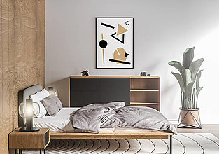 Grafika - Plagát na stenu - geometria I. (Béžová) - 13200269_