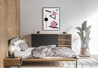 Grafika - Plagát na stenu - geometria I. (Ružová) - 13200271_