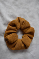 Ozdoby do vlasov - Scrunchies - hnedá - 13201437_